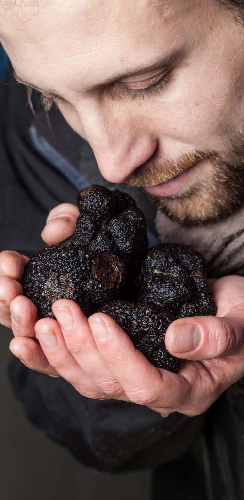 La bonne odeur des truffes fraiches